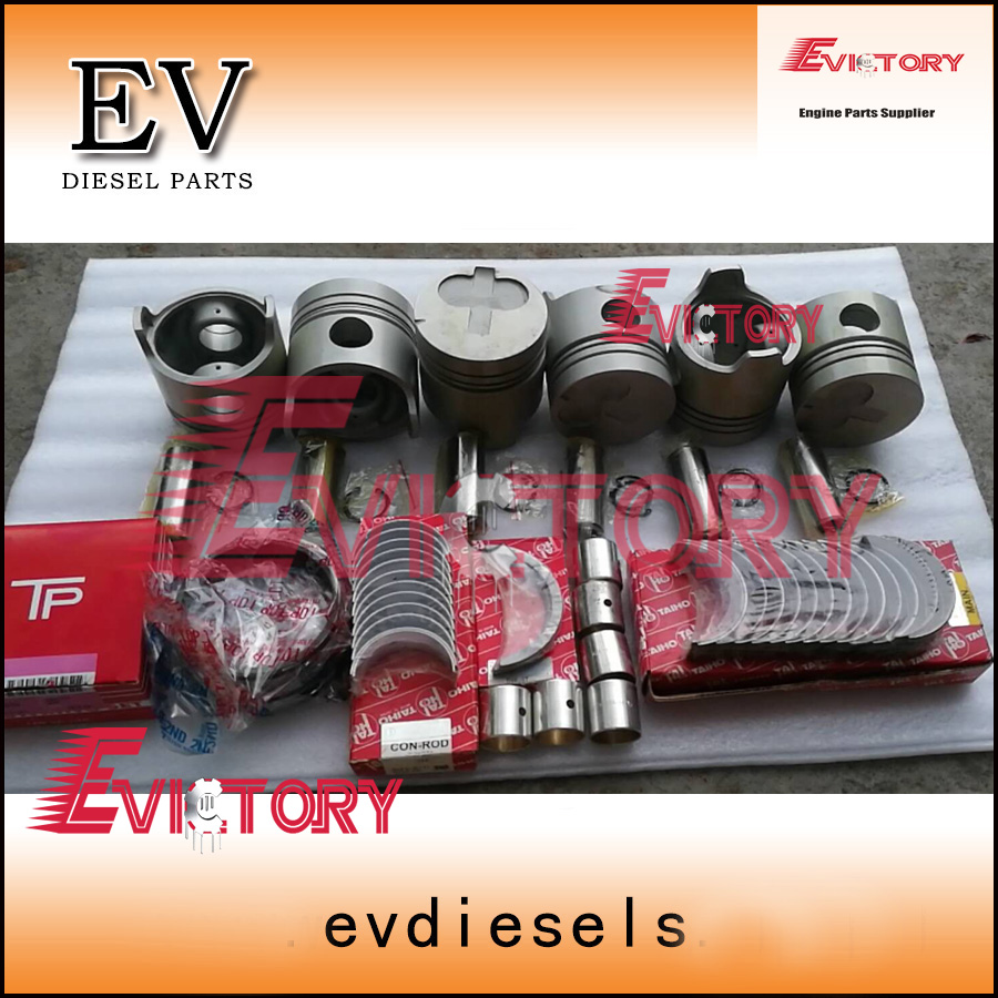 For Toyota 2H engine rebuild kit 2H Piston and piston ring set full cylinder head gasket crankshaft&con rod bearing