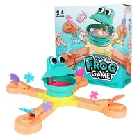 Funny Feeding frogs to eat biscuits, children's manual, educational toys, electric toys Family Party Game