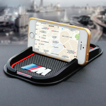 Car Anti Slip pad Rubber Mobile mat GPS support Accessories for BMW Audi Benz Car styling