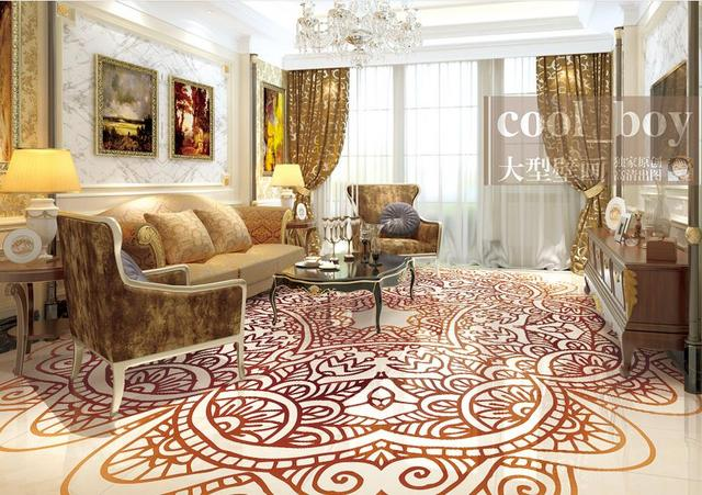 Custom Photo Wallpaper Murals 3d Floor Tiles Living Room Wallpaper Kitchen  Continental Patterns 3d Flooring Modern