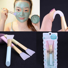 Dropshipping 3 Colors Facial Mask Stirring Brush Soft Silicone Makeup Brush Women Skin Face Care For Girl Cosmetic Tools
