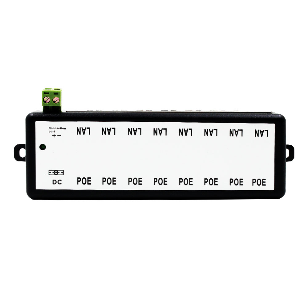 POE Injector 4 Ports 8 Ports for Video Surveillance IP Cameras Power Over Ethernet IEEE802.3af