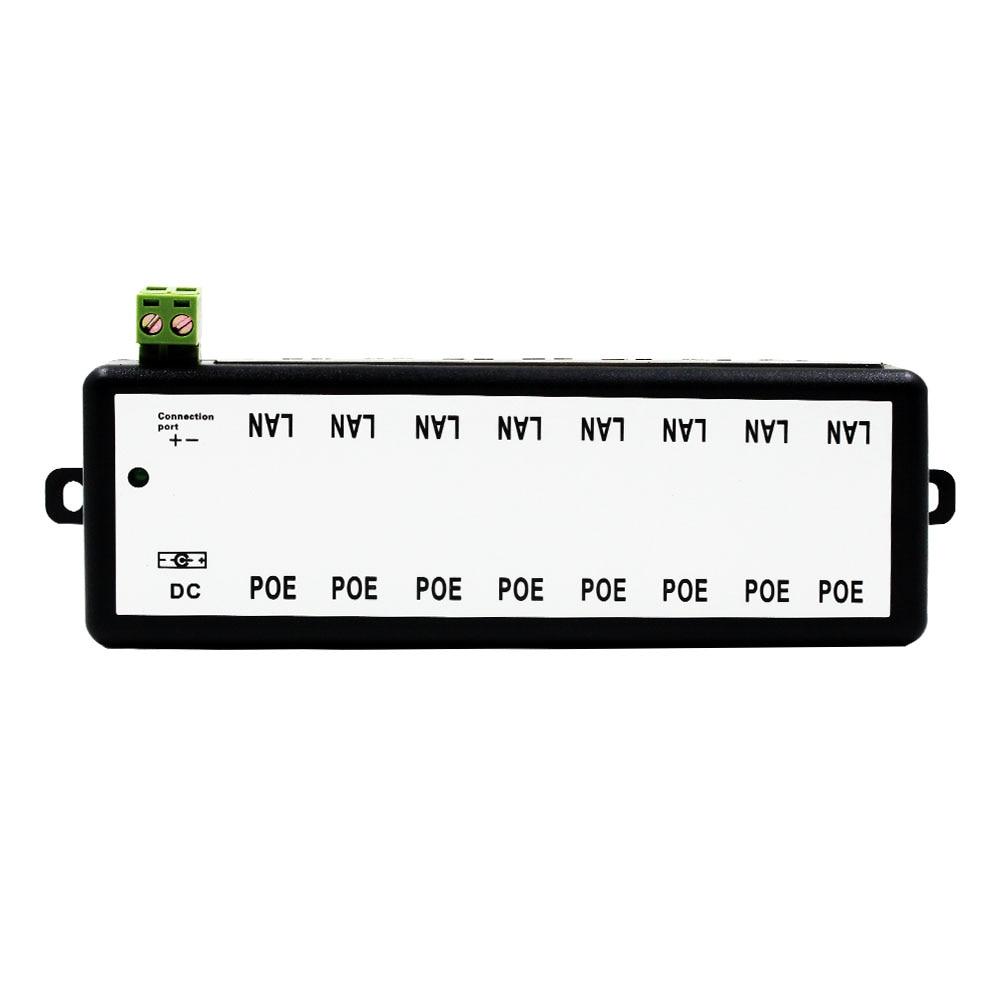 Witrue POE Injektor 4 Ports 8 Ports für Video Überwachung IP Kameras Power Over Ethernet IEEE802.3af