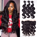 Malaysian Body Wave With Closure 13x4 Ear To Ear Lace Frontal Closure With Bundles Malaysian Virgin Hair With Closure Human Hair