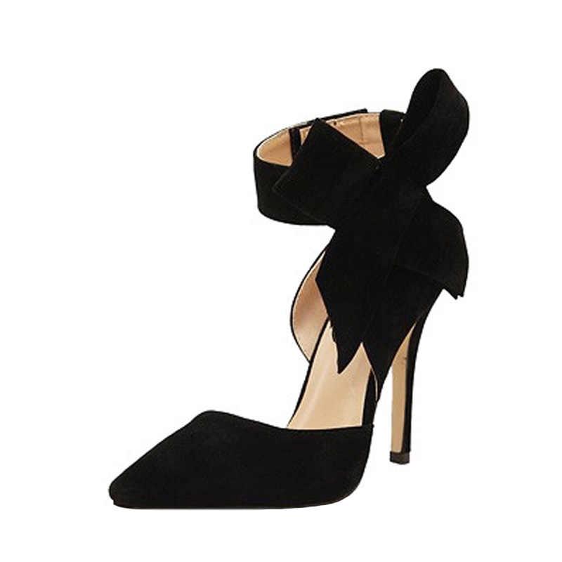 新しい女性は慰安婦の靴弓ハイヒールカジュアルレディースシューズ女性サンダル指摘女性のかかと小剣プラスサイズ 43