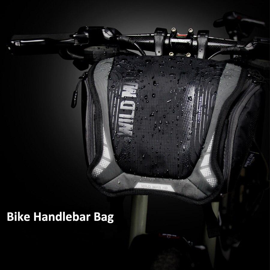 Sac de vélo étanche sac Tube avant guidon grande capacité poche de vélo sac à dos à bandoulière vtt sacoche sac de cyclisme