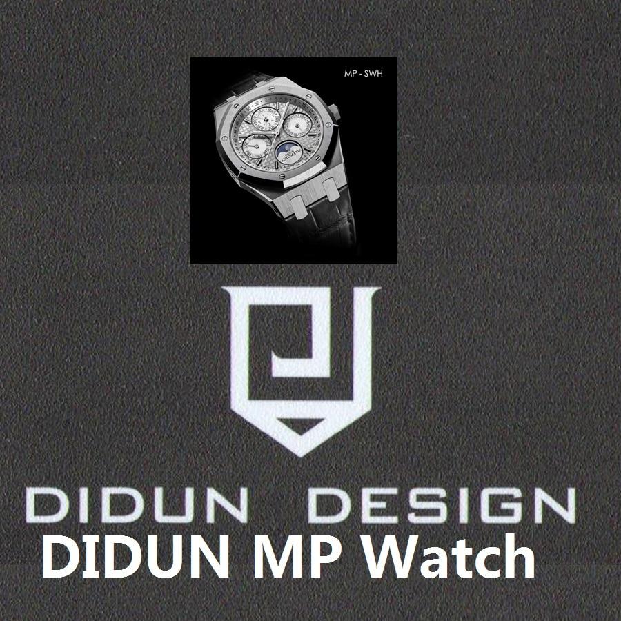 DIDUN watch Men Top Brand Luxury Mechanical Automatic Watch Military Business Watch Shockproof Moonphase Leatherstrap Wristwatch цена и фото