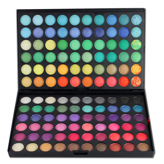 Pro 120 Full Color Makeup Eyeshadow Palette Shimmer Matte Eyeshadow Professional Make Up Mineral Cosmetic Set