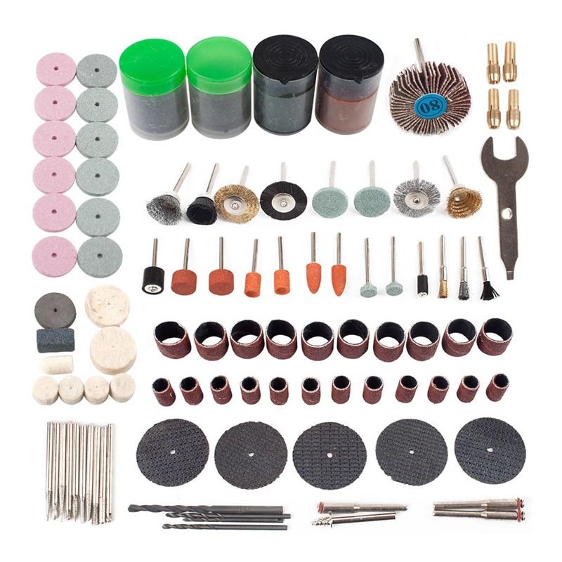161Pcs Mini Drill Multi Rotary Tool Accessories Set Grinding Polishing Kits For Micro-Drill Rotating Polishing