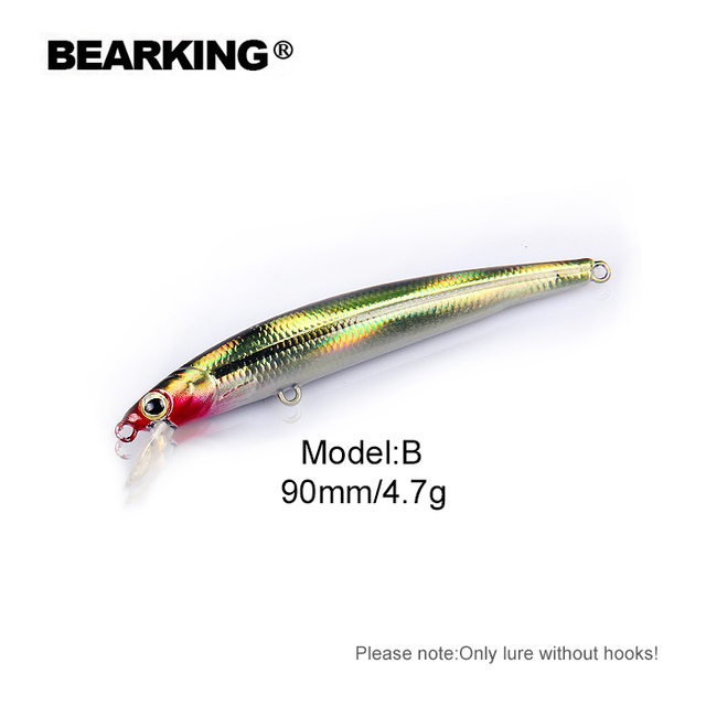 Cheap Bearking 	 economical Fishing Lure 1PC without hooks Artificial Bait Wobbler Minnow Fishing Lure
