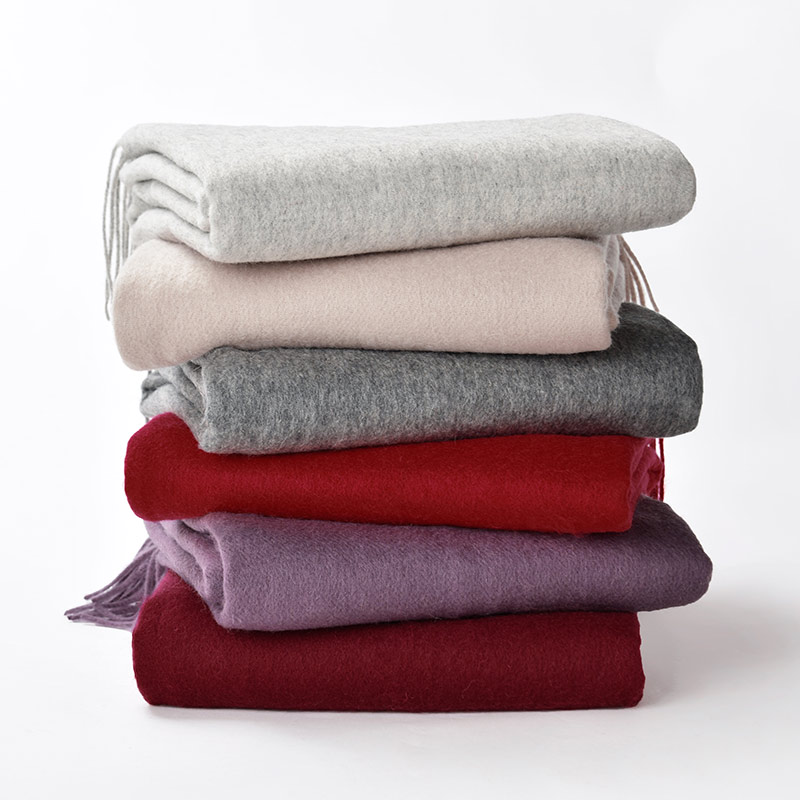 Warm 100% Lamb Wool Scarf For Women Wool Pashmina Bandana Winter Spring Ladies Scarves L ...