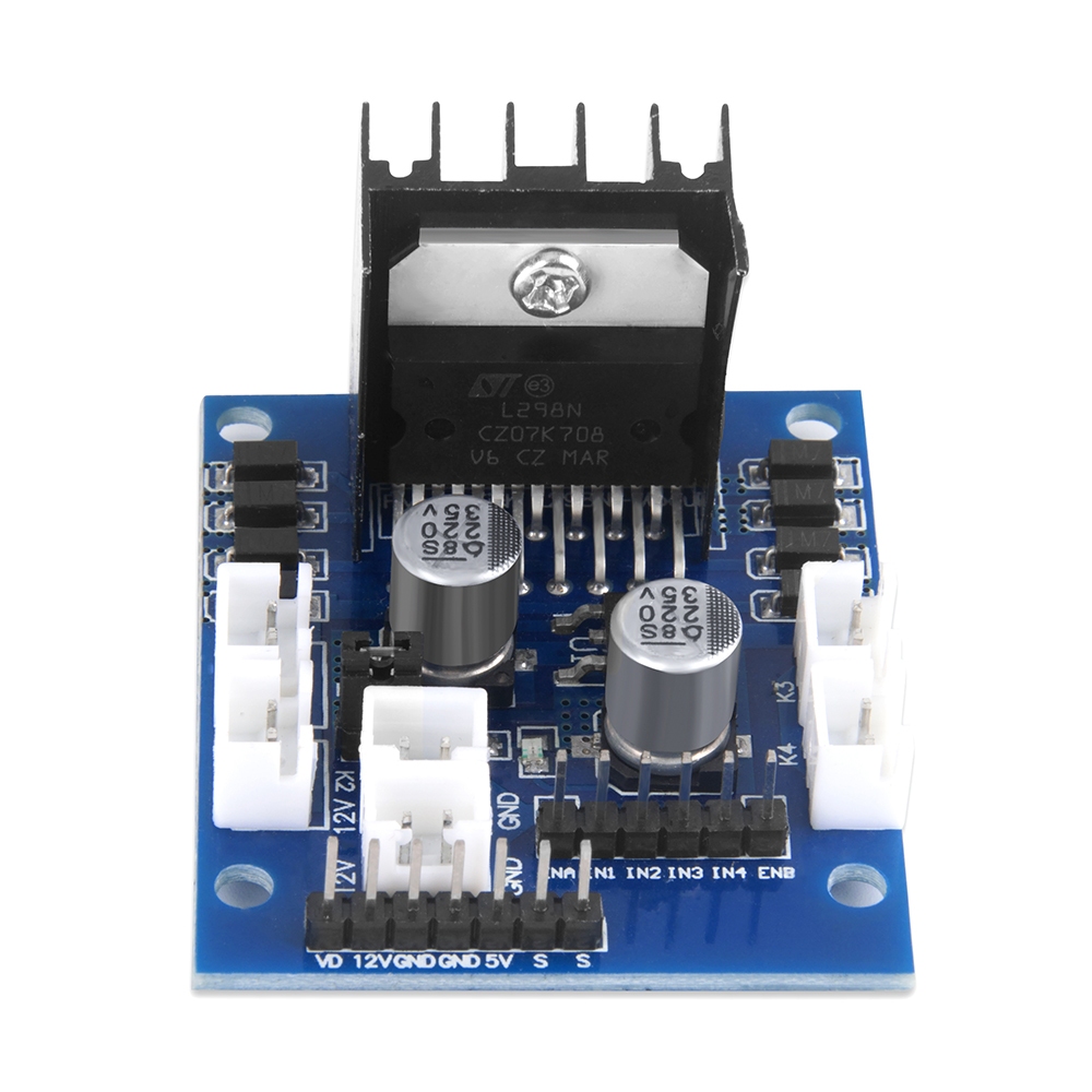 OSOYOO Model-X Motor Driver Module  Dual H Bridge Stepper Motor Driver Board For Arduino Smart Robot Car 5-35V Drive Voltage