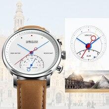 Bozlun H8 Bisnis Kuarsa Jam Tangan Pria Tahan Air Pria Jam Tangan Kulit  Smart Watch Bluetooth 434783c1dc