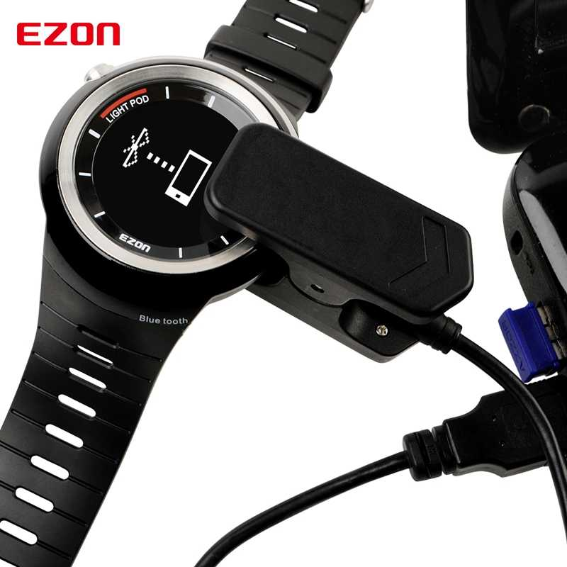 EZON Sport Watch Original Charger USB Cable Black for T031 S2 G2 G3 T907 T043