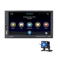 Android 2 DIN Car Auto Radio GPS Navigation Reverse Camera Mirror Link 1080P MP5 Player QUAD Core Bluetooth FM WiFi Radio