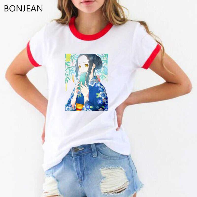 4582f4c5a791b Japanese harajuku shirt Fantasy anime girl print tee shirt femme kawaii  clothes women tops female t-shirt white tumblr t shirt