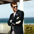 Últimas Designs Brasão Pant Preto Cotoveleiras Blazer Homem Ocasional Terno Do Casamento Do Noivo Smoking Ternos Do Partido Para Homens (paletó + Calça)