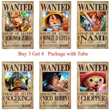 home art ONE PIECE WANTED Posters Luffy Zoro Sanji Nami