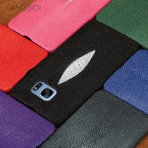 Image 2 - Wangcangli מותג נייד טלפון מקרה פרל דגים חצי חבילה נייד טלפון מקרה עבור סמסונג c8 טלפון נייד מקרה מותאם אישית עיבוד
