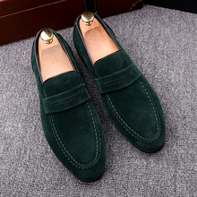 Brand New 2017 Black Men Loafers Shoes Luxury Slip-on Moccasins Casual Men Shoes Suede Leather Men's Flats Shoes стоимость