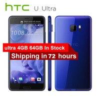 Оригинальный htc U Ultra 4G LTE мобильный телефон 4 ГБ ОЗУ 64 Гб ПЗУ Snapdragon 821 четырехъядерный 5,7 1440x2560px 16MP DualView Android телефон
