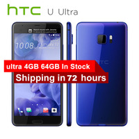 Original HTC U Ultra 4G LTE Mobile Phone 4GB RAM 64GB ROM Snapdragon 821 Quad Core 5.7 1440x2560px 16MP DualView Android Phone