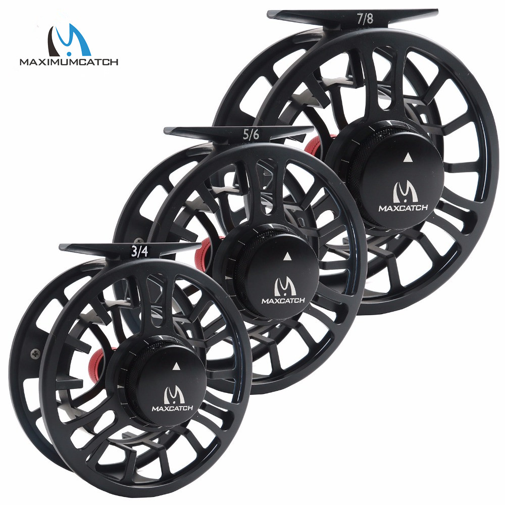 Maximumcatch High Grade TORO 3/4/5/6/7/8WT Fly Reel 6061-T6 Aluminum Black Color Right Left-Handed Fly Fishing Reel maximumcatch hvc 7 8 weight exclusive super light fly reel chinese cnc fly fishing reel large arbor aluminum fly reel
