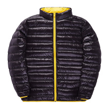2016 Winter Europe and the United States high grade Man Winter Down Coat light thin font