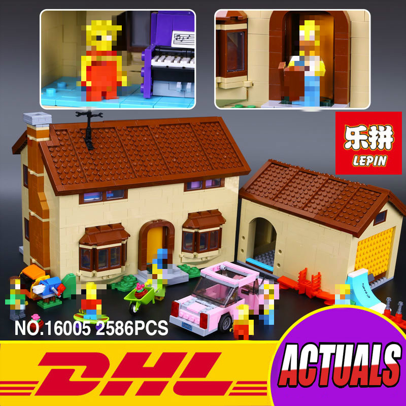 New LEPIN 16005 2575Pcs the Simpsons House Model Building Block Bricks Compatible 71006 Boy gift lepin 22001 pirate ship imperial warships model building block briks toys gift 1717pcs compatible legoed 10210
