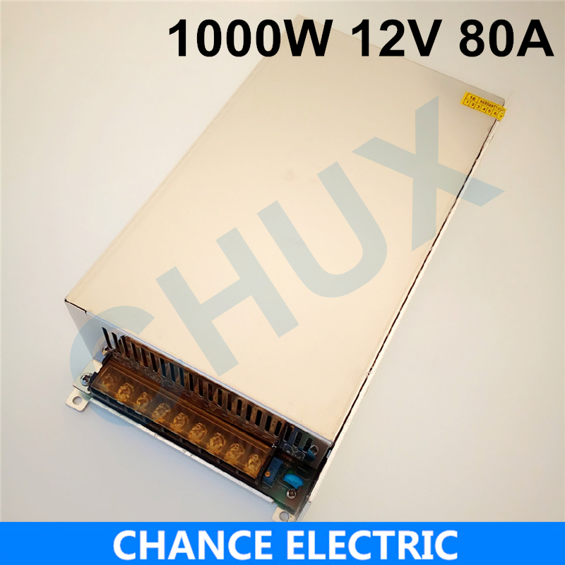 цена на 1000W 80A 12V switching power supply 12v adjustable voltage ac to dc power supply for Industrial field Free shipping