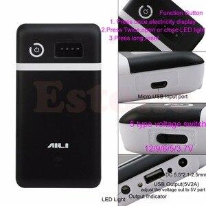 Image 4 - 3.6V 5V 6V 9V 12V נייד כוח בנק תיבת USB 6x18650 סוללה מטען מתאם זרוק חינם