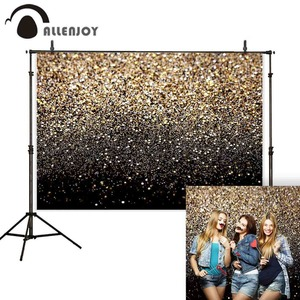 Image 2 - Allenjoy party Glttter photography backdrop Birthday bokeh gold black shiny wedding photo background studio photocall shoot prop