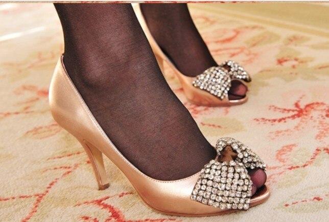 Chaussures Dame Peep Diamant De Cuir Chaude Or Pompes Parti Luxe Véritable Toe Mariage Cindella Talon Sexy Haute Vente Kvoll Ture Mariée vCvfqBr