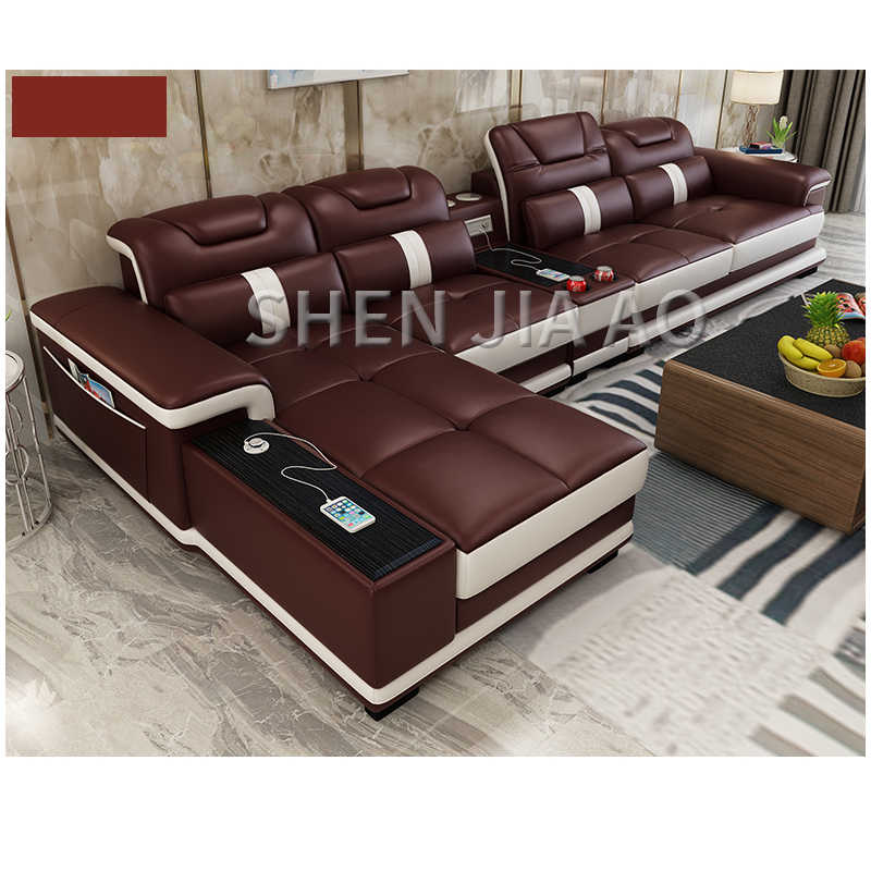 Multi Function Living Room Leather Sofa
