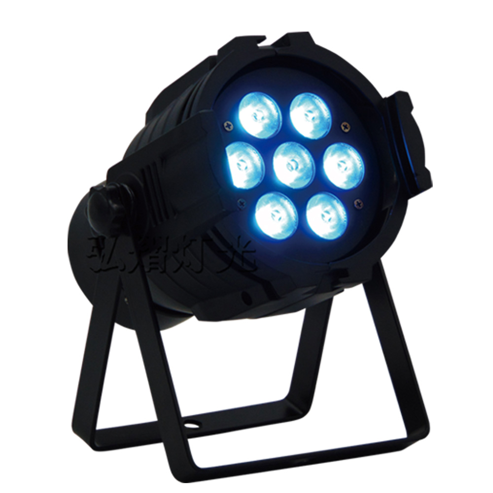 1pcs/Lot RGBW 4in1 LED par 7x12W / RGBW par Light mini DJ Stage Lights Disco 2017 factory price 1pcs 60w bee eyes beam par light 6x10w rgbw 4in1 led par lights for stage dj disco professional party show