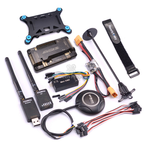 APM2.6 ArduPilot Mega APM 2.6 Flight Control Board M8N 8N GPS with compass GPS Holder Power Module Mini OSD 433 / 915 telemetry(China)