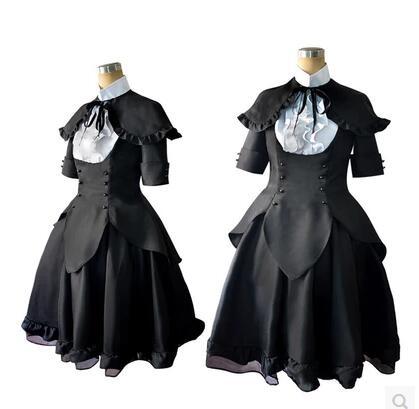 2016 Puella Magi Madoka Magica Homura Akemi Black Dress Cosplay Costume Theater edition