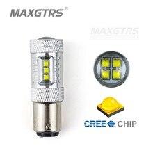 2×80 Вт S25 1157 BAY15D Cree Чип Светодиодные Лампочки P21/5 Вт Автомобиля Обратный Резервный Свет Фонаря Сигнала Торможения Включите Парковка Сигнала лампы