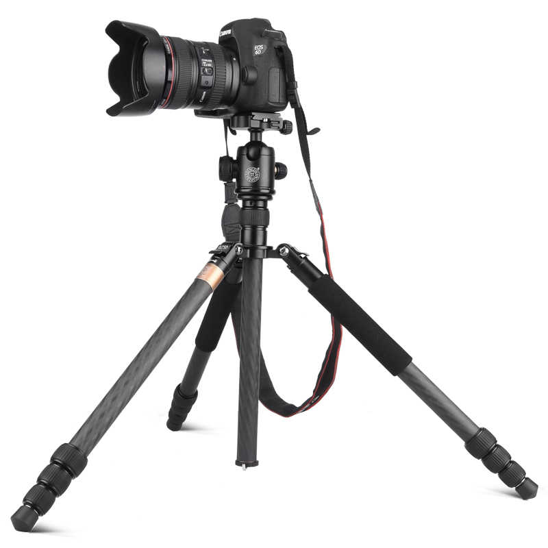 2018 новое обновление фотографического Q999BC карбоновое волокно Профессиональный штатив монопод из алюминия шаровая Головка компактный для DSLR камеры
