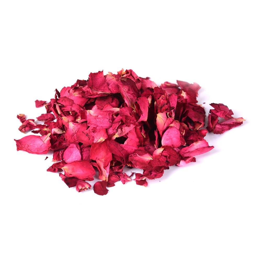 100g secado natural rosa pétalo de flores secas Spa blanqueamiento ducha-#