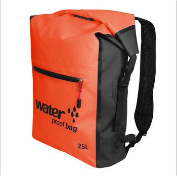 25L Portable Sport Waterproof Dry Bag Sack Swim Storage Rafting Boating Kayaking Canoeing Camping Travel Kits Drift Floating Bag - Orange