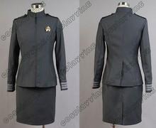Hot Sell Star Trek Into Darkness STID Starfleet Dress Cosplay Costume Uniform Women Adult Costumes
