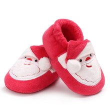 ffecc1ac Niño recién nacido Santa Claus de Navidad único bebé suave chica chico en  primer lugar los caminantes botines zapatos para Navid.