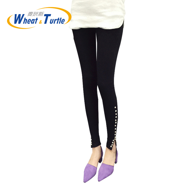 2016 Hot Satle Maternity Leggings Pants ,Fashion Trousers For Pregnancy,Taper Suds decorated Pencil Pants For Pregnant Women