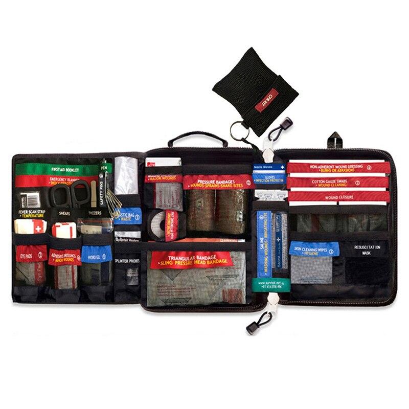 Safe wilderness survival carro viagem kit de primeiros socorros saco médico ao ar livre kit de primeiros socorros de acampamento kit de emergência conjunto de tratamento