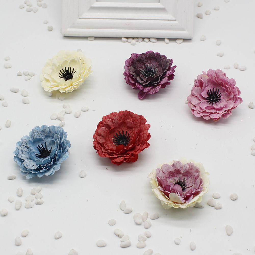 10pcslot Fake Artificial Silk Peony Handmade Diy Wedding Decoration
