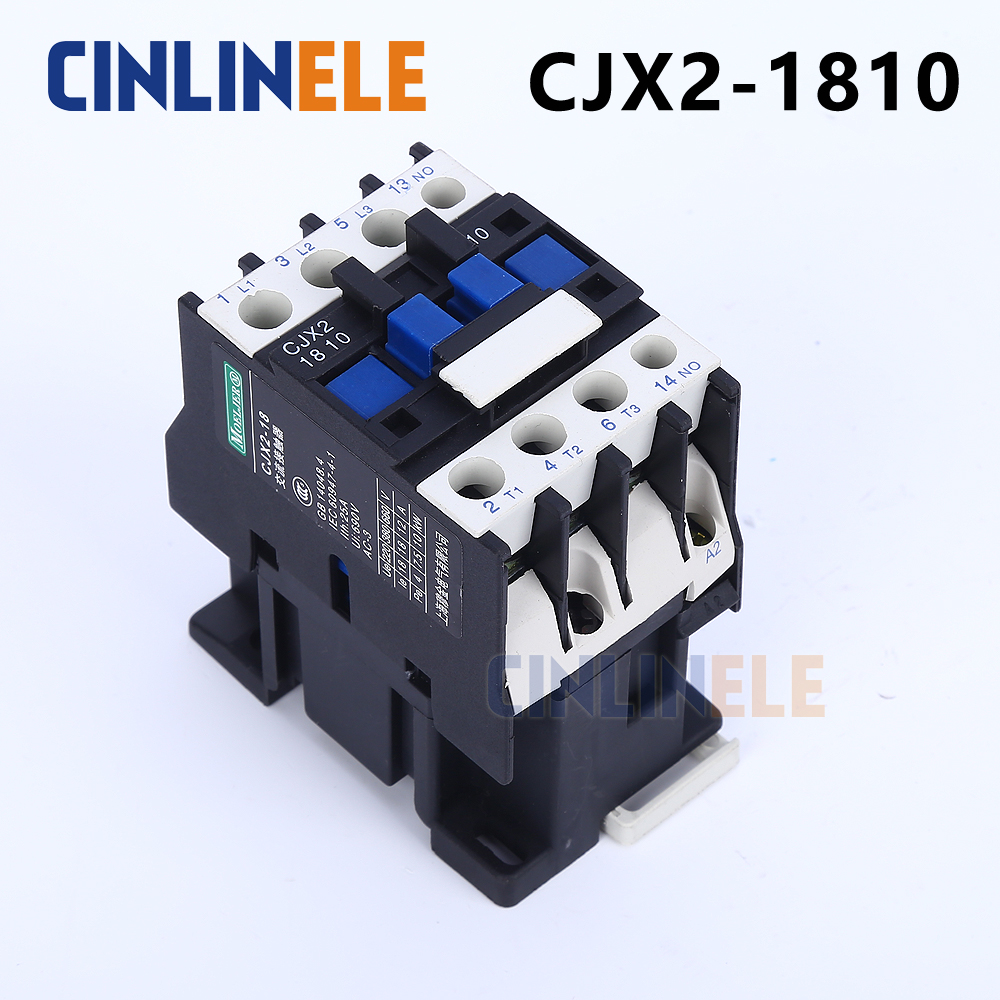 Contactor CJX2-1810 18A switches LC1 AC contactor voltage 380V 220V 110V Use with float switch cjx2 lc1 1210 25a 220v 660v ac contactor black white