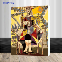 WLDAFEN Famous Picasso Van Gogh Picture On Wall Drawing By Numbers Unique Gift Acrylic Coloring Oil