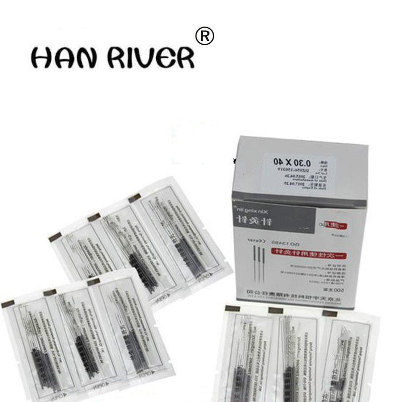 HANRIVER High quality disposable needles of disposable acupuncture needles with 1, 500 (3 packets) size choices hot selling disposable sterile acupuncture needle steel acupuncture needles square if order 10 box best