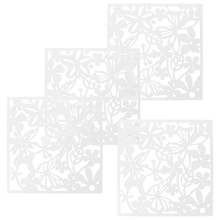 fashion 4 pcs butterfly bird flower hanging screen partition divider panel room curtain home decor white - Home Decor Screens